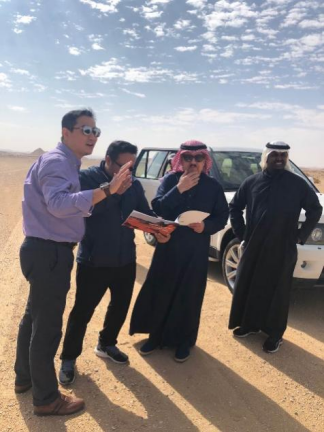 Saudi Prince personally took a look at the land for project.